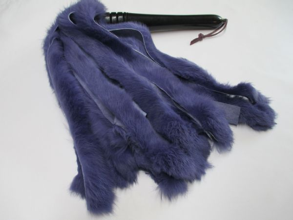 Sensation Play  Optional Coloured Rabbit Fur Falls Flogger